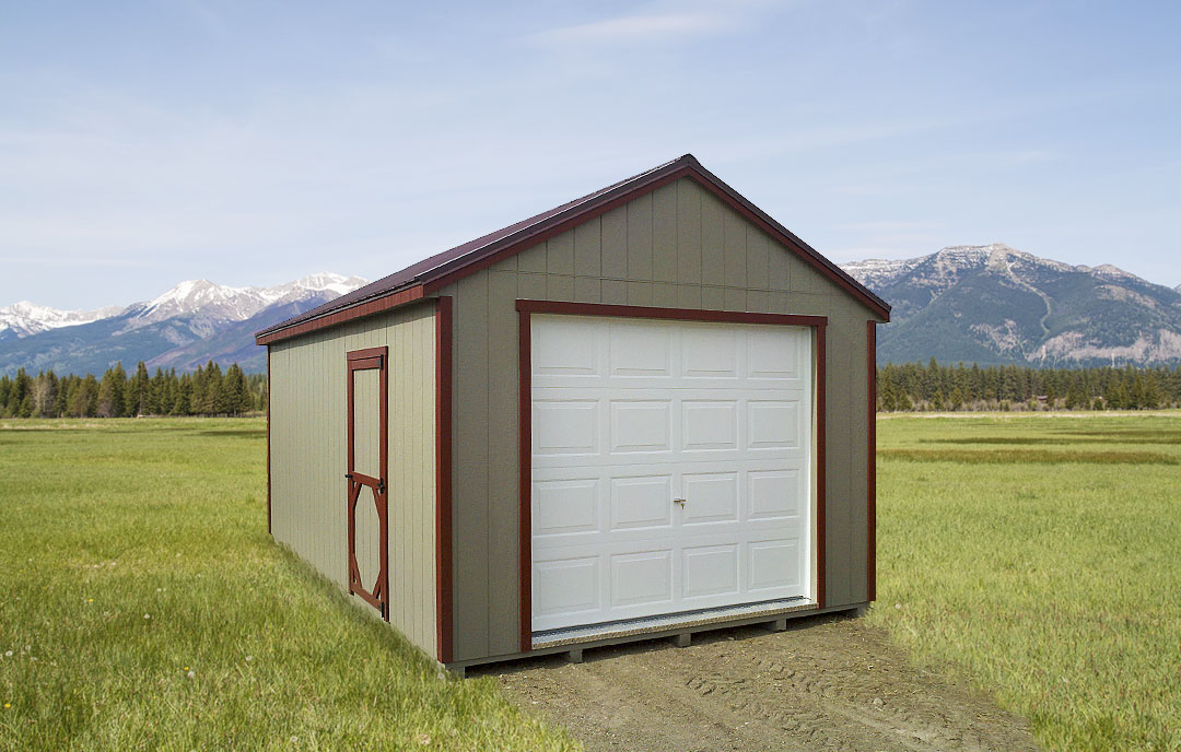 Affordable garden sheds and garages montana shed center for Sheds and barns