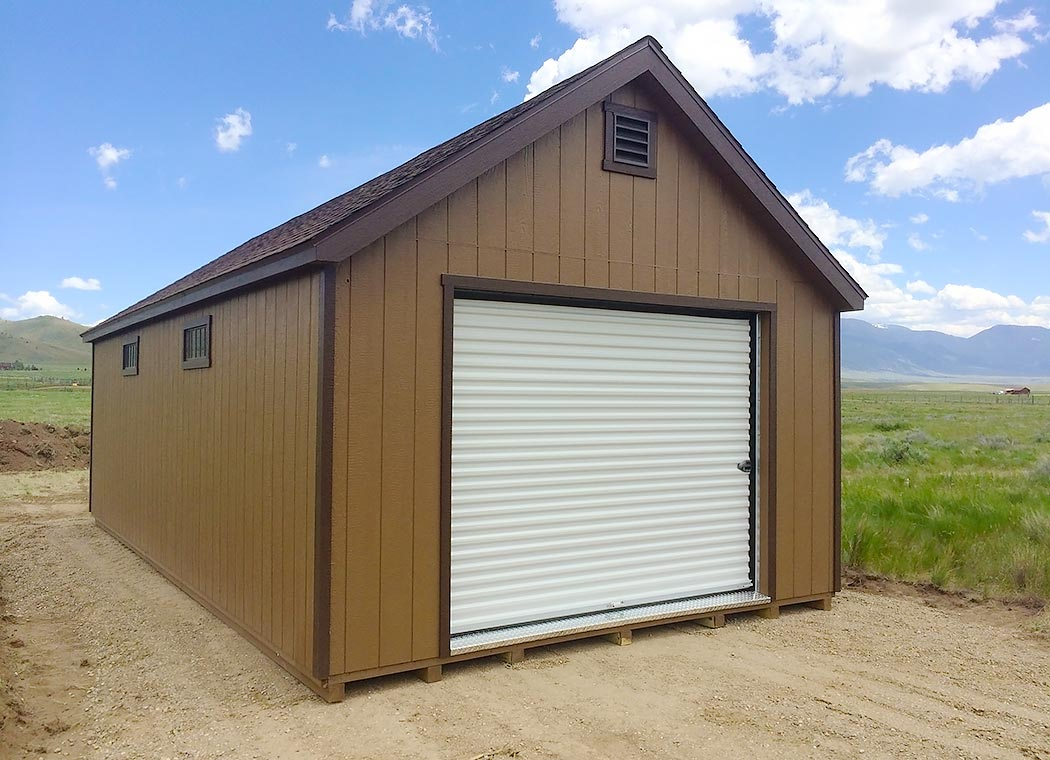 Prefab garages montana shed center for Prefab roof