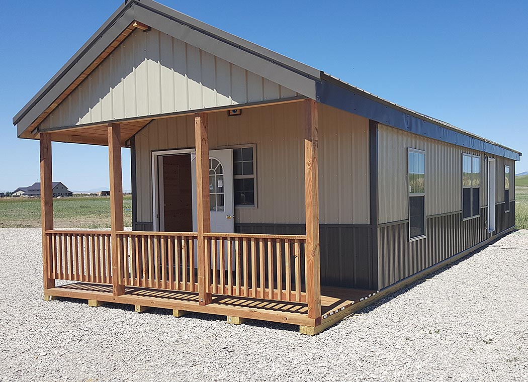 The custom montana shed center for Steel frame cabin