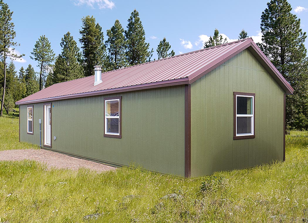 The custom montana shed center for Cottage cabins to build affordable