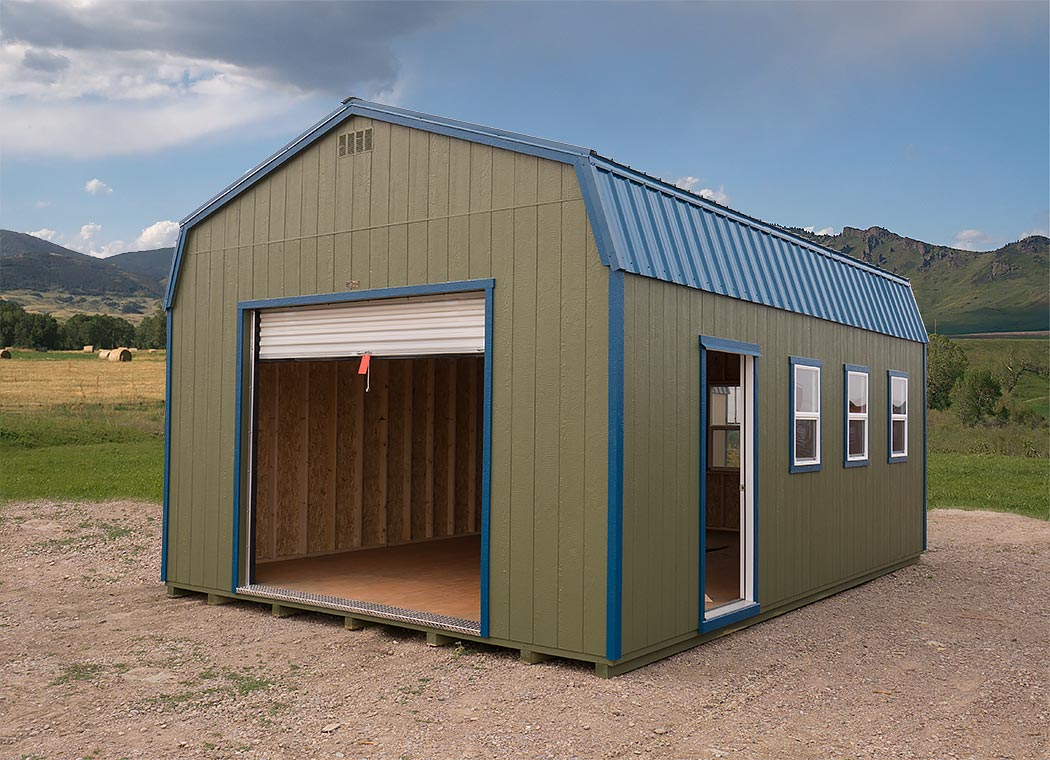 garage prefabricated prefab montana side garages shed hi center
